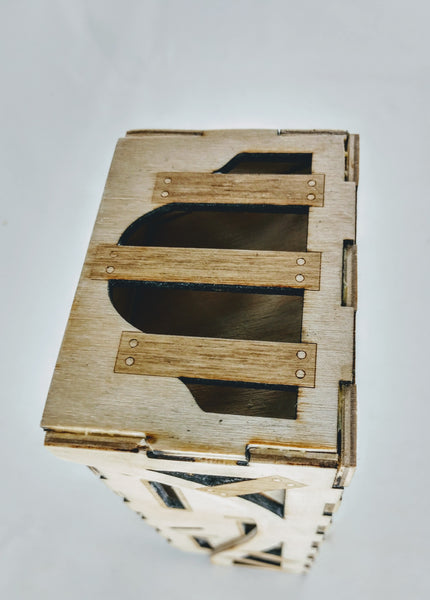 Birch Wood Collapsible Castle Dice Tower - Hard Candy Woodshop