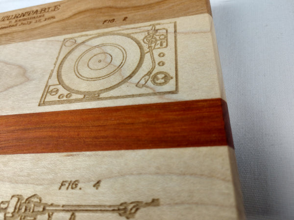 Turntable Blueprint Patent Compact Cutting Board - Hard Candy Woodshop