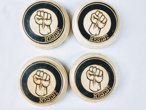 Resist! Coaster Set - Hard Candy Woodshop