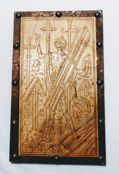 Memento Mori Reproduction Art Piece / Late 15th Century Woodcut - Hard Candy Woodshop