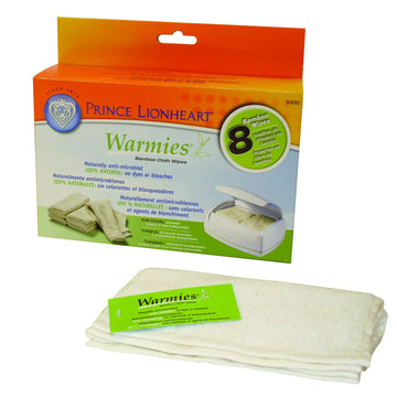 WARMIES® Reusable Wipes, 8 pack 100%  Bamboo and Rayon Wipes