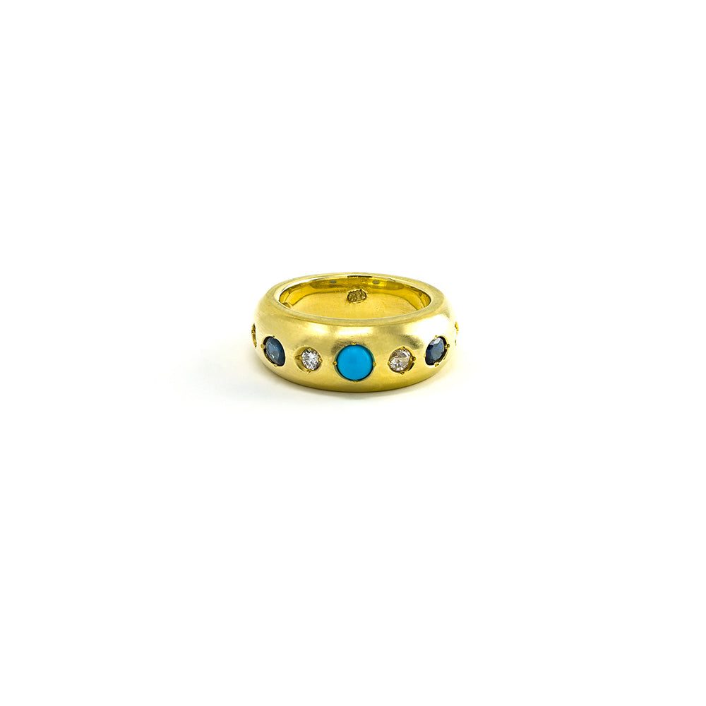 Sapphire, Diamond & Turquoise Band