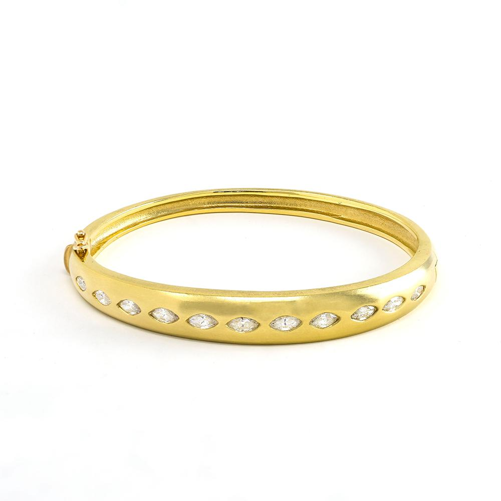 Marquise Diamond Bangle