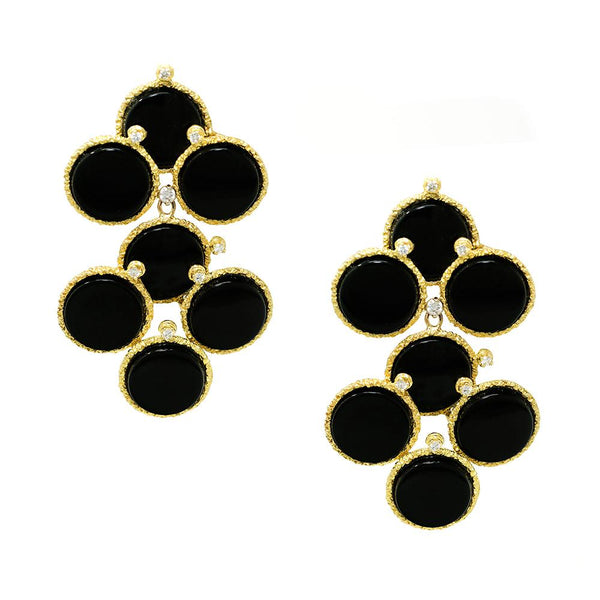 Onyx Cloud Earrings
