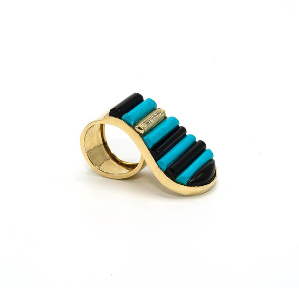 Turquoise Piano Ring