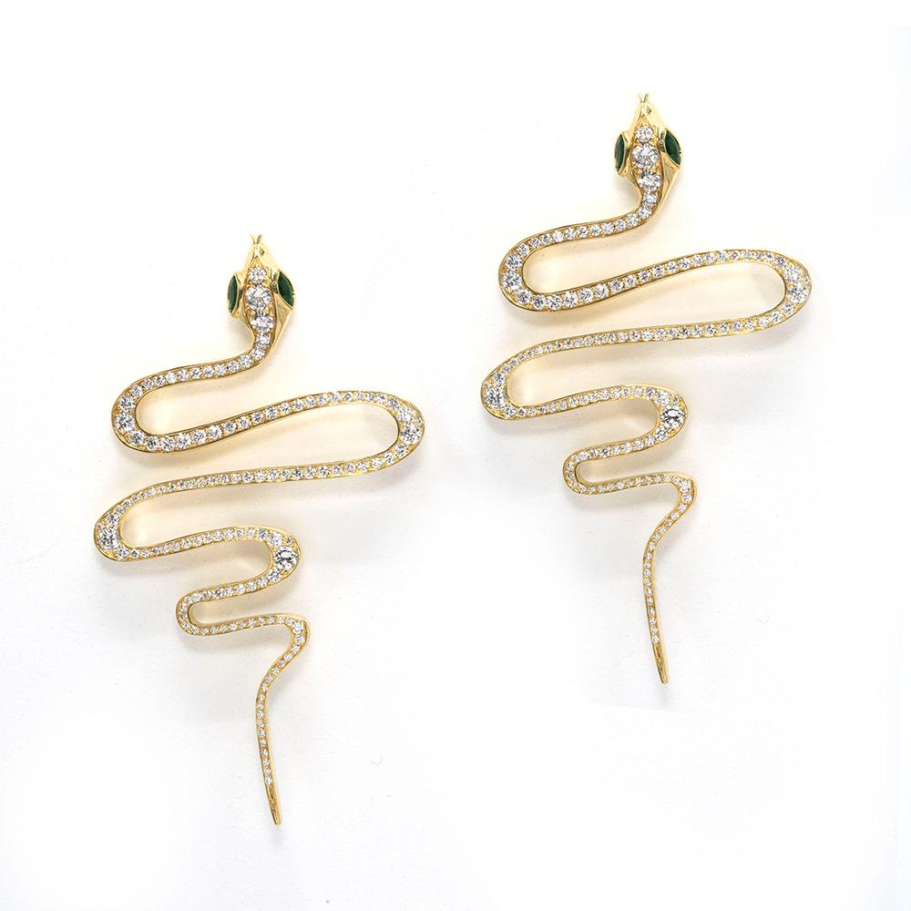 Zig Zag Snake Earrings