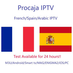 France IPTV Spain Arabic Francais IPTV subscription for m3u Android MAG ENIGMA