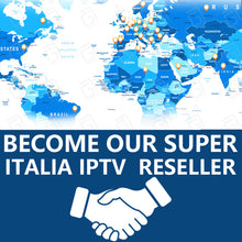 Load image into Gallery viewer, Super Italy IPTV control panel for IPTV resellers with credits contains 6000 Live VOD Italy Germany