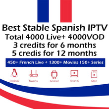 Load image into Gallery viewer, Best Stable Spanish IPTV credits