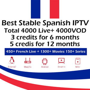 Best Stable Spanish IPTV credits