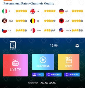 Italy Super IPTV subscription 6000+ live channels Portugal UK Germany Turkish Spain Albania PayTV For MAG250 Android Smart TV Box M3U