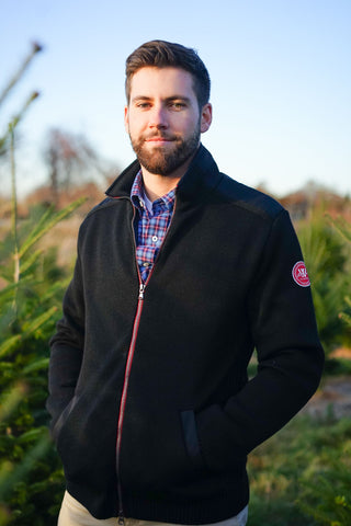 Gregor Wool Full Zip -Black - Island Outfitters