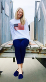 American Flag Sweater