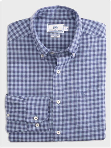 Wharf Heathered Gingham Button Down - Island Outfitters
