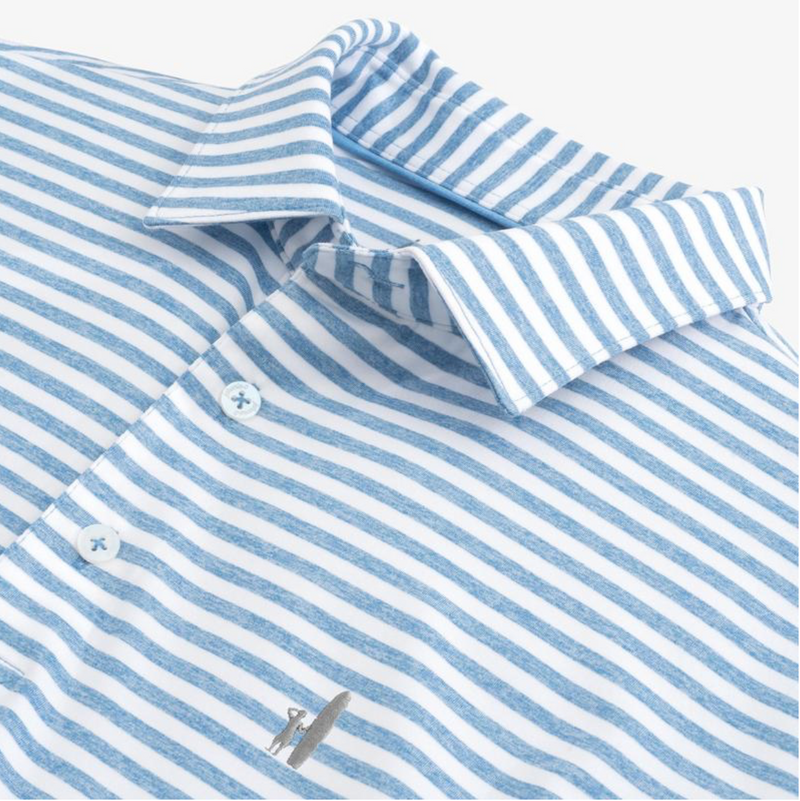 Smith Striped PREP-FORMANCE Jersey Polo - Island Outfitters