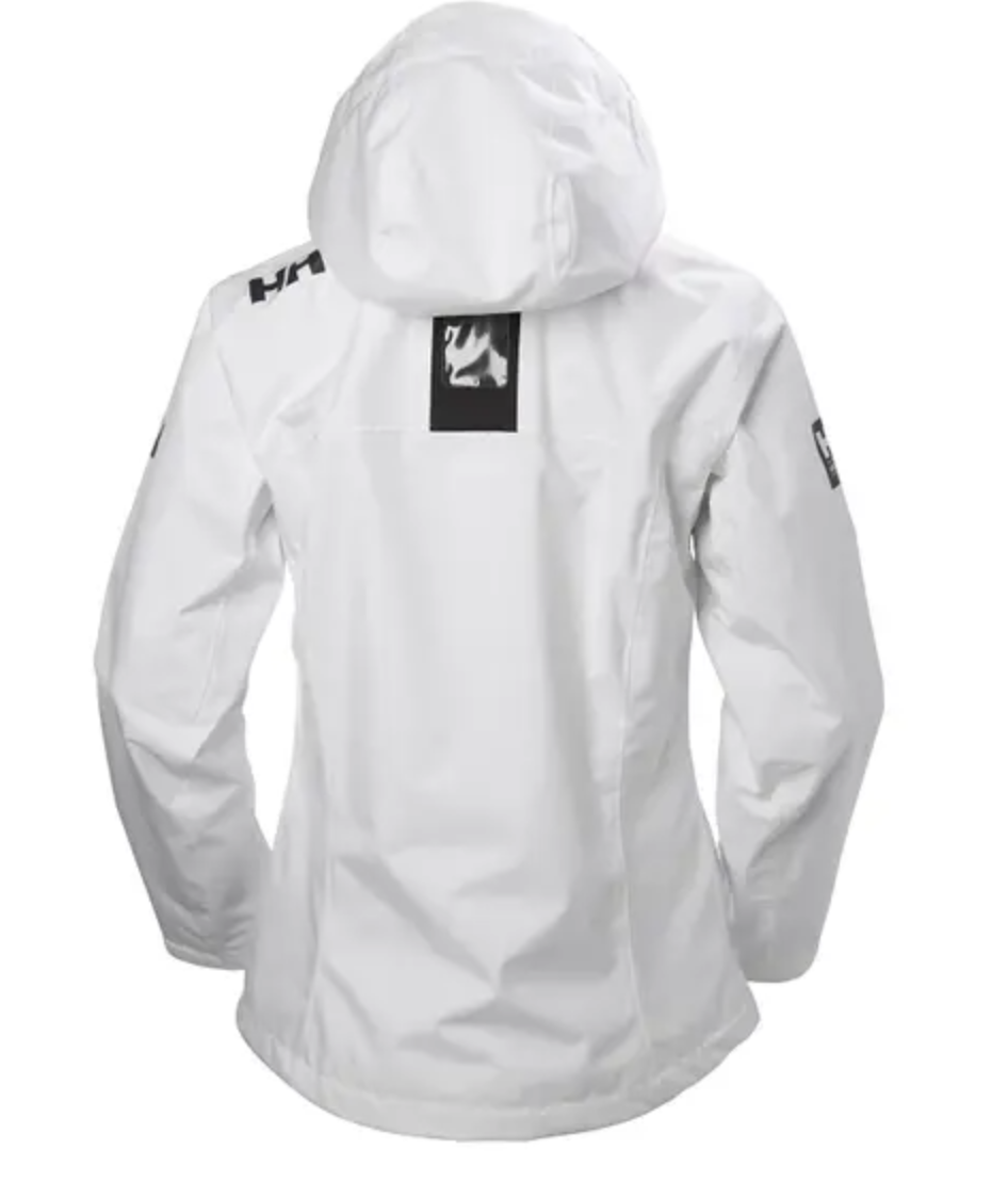 W's Crew Hooded Jacket-White - Island Outfitters