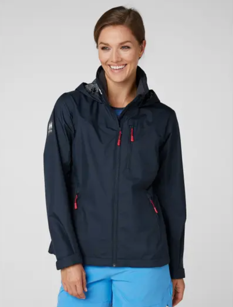 W's Crew Hooded Jacket-Navy - Island Outfitters