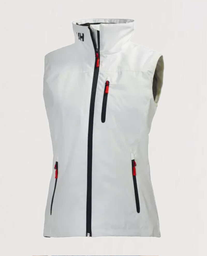 W's Crew Vest-White - Island Outfitters