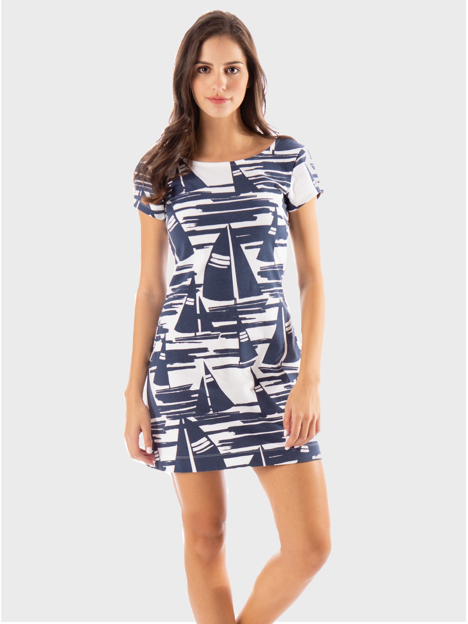 Addie T-Shirt Dress- Back to the Coast