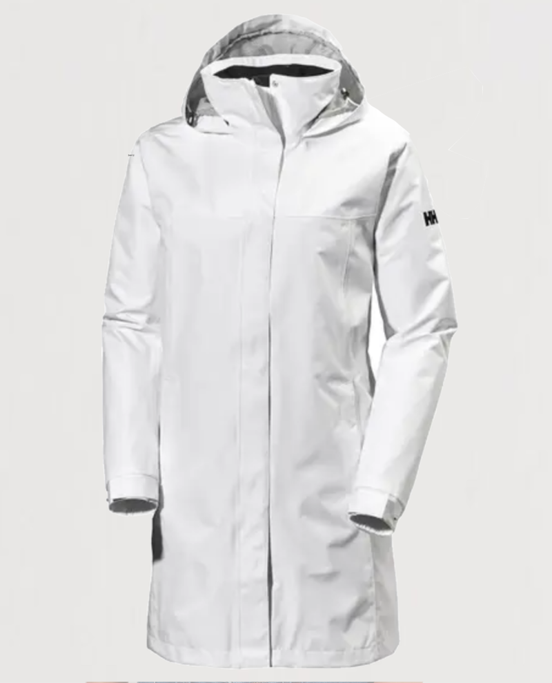 Aden Long Coat-White - Island Outfitters