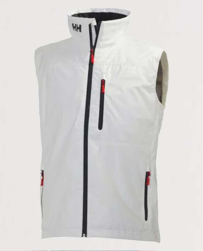 M's Crew Vest-White - Island Outfitters