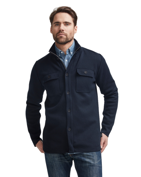 Edwin Shirt Jacket Windproof Navy - Island Outfitters