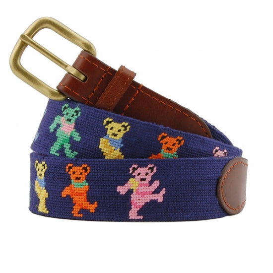 Dancing Bears Needlepoint Belt - Island Outfitters