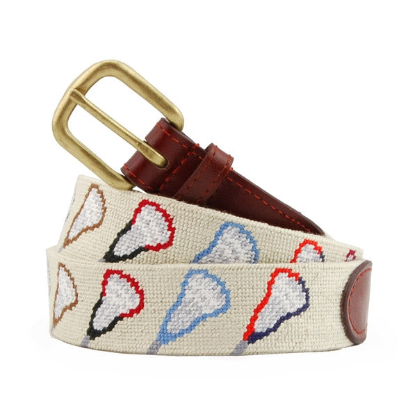 College Lacrosse Needlepoint Belt