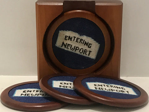 Newport Needlepoint Coaster Set