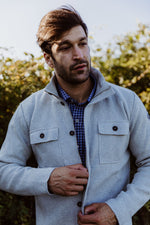 Edwin Shirt Jacket Windproof Lt. Grey - Island Outfitters