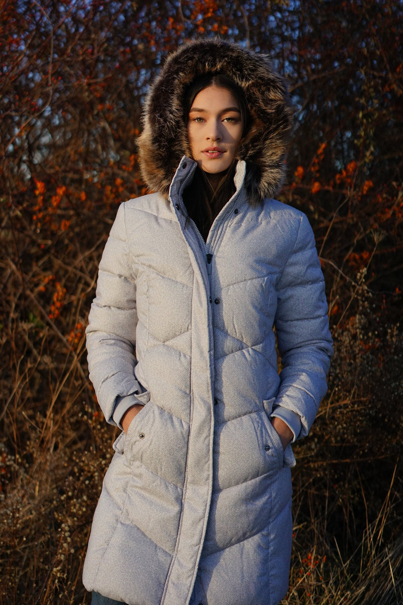 Sternway Quilted Parka- Ice White - Island Outfitters