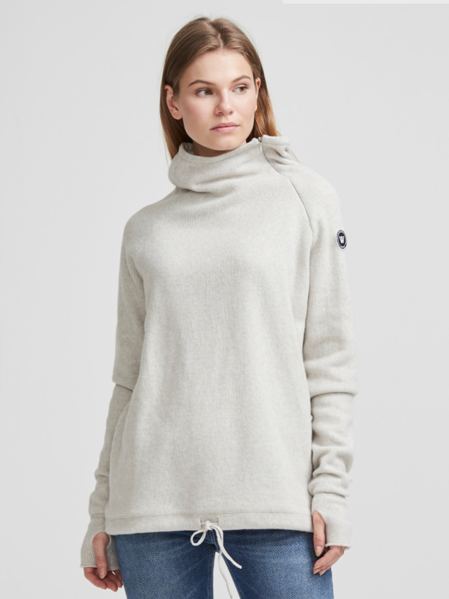 Martina Windproof- Lt Grey Mel. - Island Outfitters
