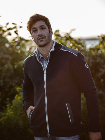 Mike Full Zip Windproof -Navy - Island Outfitters