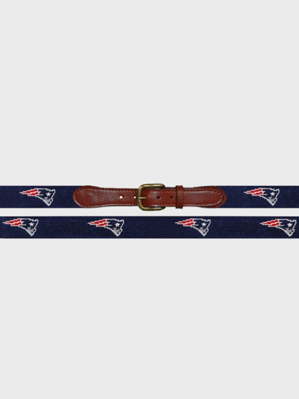 New England Patriots Needlepoint Belt - Island Outfitters