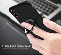 iPhone X Case with Magnetic Suction and Finger Ring