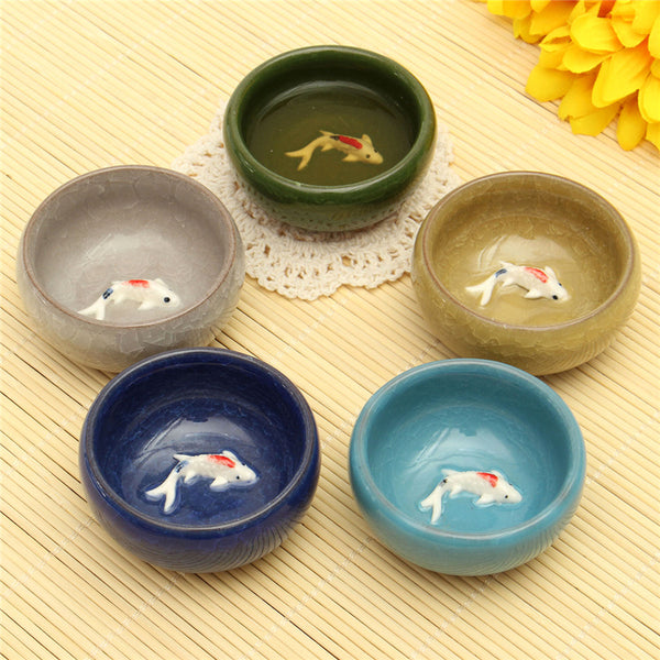 3D Fish Ceramic Kongfu Tea Cup Teacups