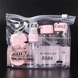Travel Mini Cosmetic Transparent Bottles Set