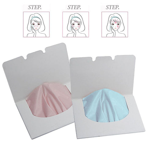 100 Sheets/Set Oil-Absorbing Blotting Facial Paper
