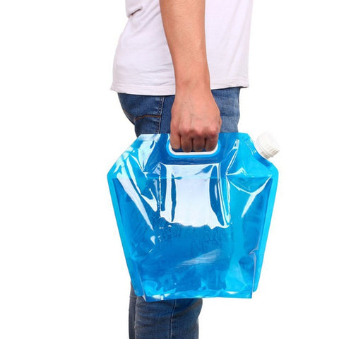 5L/10LOutdoor Foldable & Collapsible Drinking Water Bag Container
