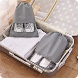 Semi-Transparent Grey Travel Shoe Bag