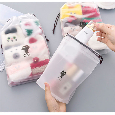 Cute Cats Cosmetic Travel Makeup Bag