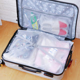 Portable Waterproof Partition Travel Storage Bag with Ziplock