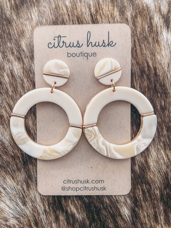 Ivory Dreams Drop Hoop