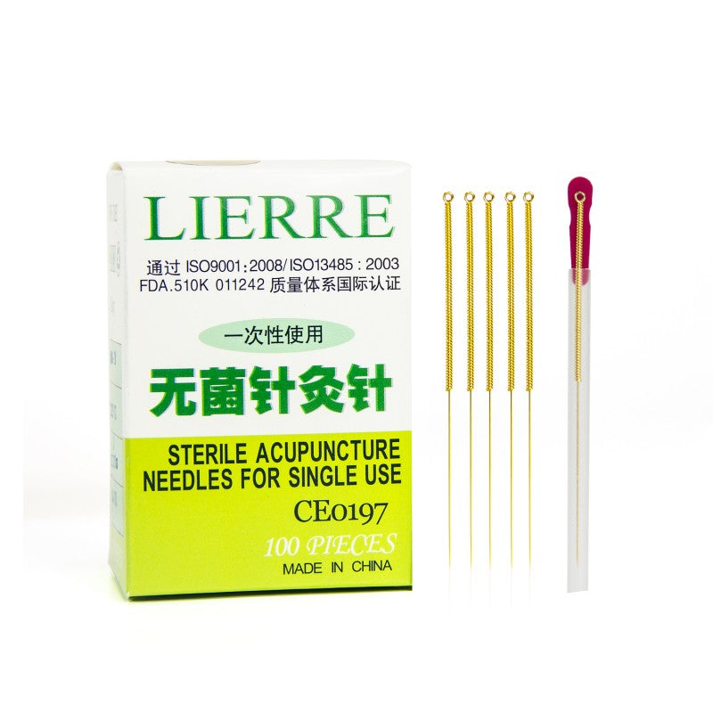 shop lierre golden acupuncture needles at lierre canada