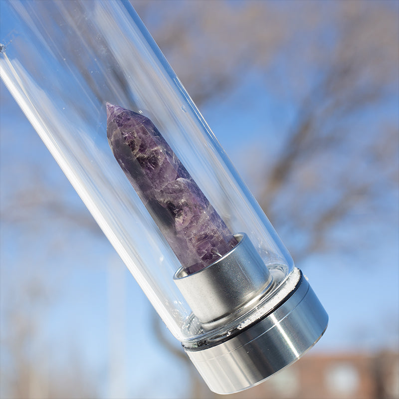 shop thera amethyst crystal elixir water bottle at lierre.ca