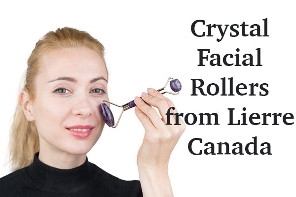 Crystal facial rollers from Lierre.ca Canada