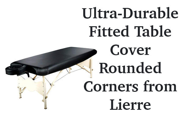 Ultra-Durable Fitted Table Cover Rounded Corners from Lierre Canada