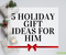 2019 Holiday Gift Guide for Him from Lierre.ca Canada - Christmas gift idea guide