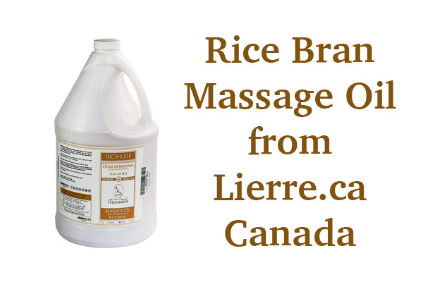 L'Herbier Rice Bran Massage oil in Canada from Lierre.ca