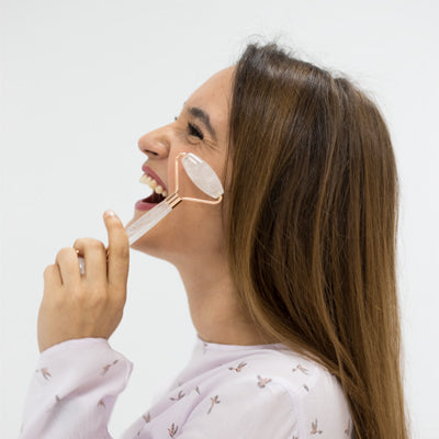 Crystal facial roller for circulation from Lierre.ca Canada